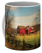 Farm - Barn - Just Up The Path Coffee Mug by Mike Savad