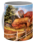 Farm - Barn - Our Cabin Coffee Mug by Mike Savad