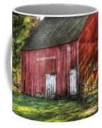 Farm - Barn - The Old Red Barn Coffee Mug by Mike Savad