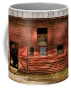 Farm - Barn - Visiting The Farm Coffee Mug by Mike Savad
