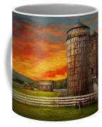 Farm - Barn - Welcome To The Farm  Coffee Mug by Mike Savad