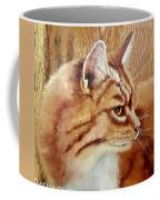 Farm Cat On Rustic Wood Coffee Mug