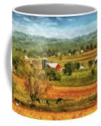 Farm - Cow - Cows Grazing Coffee Mug by Mike Savad