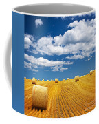 Farm Field With Hay Bales Coffee Mug