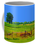 Farm Photo Digital Paint Style Coffee Mug