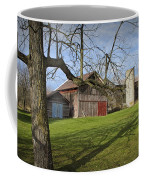 Farm Scene With Barns And Silo Coffee Mug