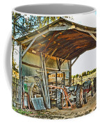 Farm Shed Digital Watercolor Coffee Mug