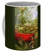 Farm - Tool - A Rusty Old Wagon Coffee Mug by Mike Savad