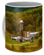 Farm View With Mountains Landscape Coffee Mug