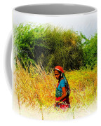 Farmers Fields Harvest India Rajasthan 2a Coffee Mug
