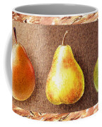 Farmers Market Drive Through Red Yellow And Green Pear Coffee Mug