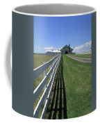 Farmhouse And Fence Coffee Mug by Frank Romeo