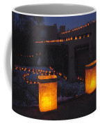 Farolitos Or Luminaria On Wall Coffee Mug