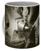 Farrier Making Horseshoe Coffee Mug