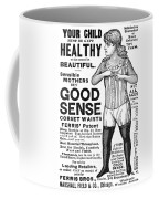 Fashion Corset, 1890 Coffee Mug