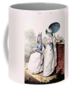 Fashion Plate Of Ladies Morning Dress Coffee Mug