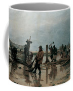 Fastening The Nets Coffee Mug by Edouard Joseph  Dantan