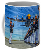 Fat Albert Over The Usmc Silent Drill Team Coffee Mug