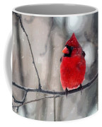 Fat Cardinal In The Snow Coffee Mug