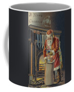Father Christmas Filling Children's Stockings Coffee Mug
