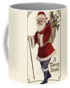 Father Christmas With A Bag Of Toys Coffee Mug