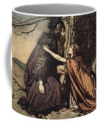 Father Father Tell Me What Ails Thee With Dismay Thou Art Filling Thy Child Coffee Mug by Arthur Rackham