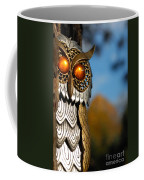 Faux Owl With Golden Eyes Coffee Mug