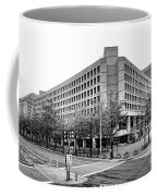 Fbi Building Front View Coffee Mug by Olivier Le Queinec