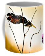 Feather And Carnation Coffee Mug