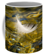 Feather On Golden Water Coffee Mug