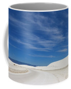 Feathery Clouds Over White Sands Coffee Mug