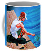 Feeding Koi Coffee Mug