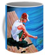 Feeding Koi Coffee Mug
