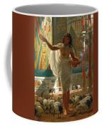 Feeding The Sacred Ibis In The Halls Of Karnac Coffee Mug