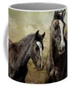 Feldspar And Ohanzee  - Pryor Mustangs Coffee Mug by Belinda Greb