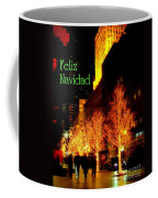 Feliz Navidad - Merry Christmas In New York - Trees And Star Holiday And Christmas Card Coffee Mug