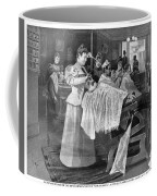 Female Barber-shop, 1895 Coffee Mug