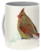 Female Cardinal In Winter II Coffee Mug