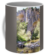 Female Climber, On A Beautiful Route Coffee Mug