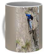 female climber on Via Ferrata Coffee Mug