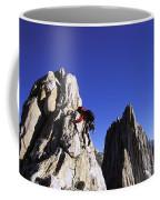 Female Climber Reaching The Top Coffee Mug