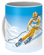 Female Downhill Skier Winter Sport Coffee Mug by Frank Ramspott