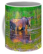 Female Moose Near Airport In Chicken-alaska   Coffee Mug