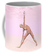 Female Musculature Performing Triangle Coffee Mug