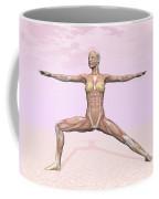 Female Musculature Performing Warrior Coffee Mug