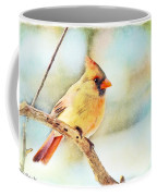 Female Northern Cardinal - Digital Paint I Coffee Mug