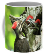 Female Pileated Woodpecker At Nest Coffee Mug