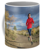 Female Runner In Colorado Coffee Mug