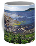 Fence Along Rocky Harbour-nl Coffee Mug