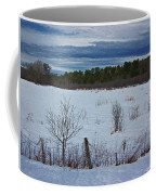 Fence And Snowy Field Coffee Mug